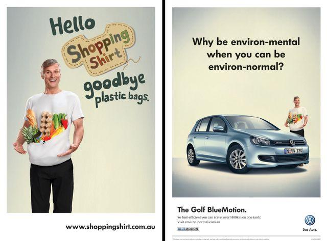 """Publicité """"écologiste"""" Volkswagen"""