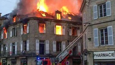 Incendie dans le centre ville de Brive