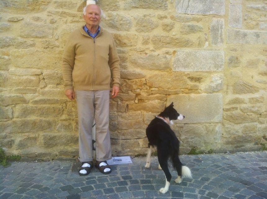 Marc et son chien border collie