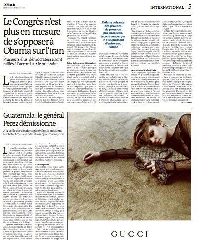 Page 5 du Journal Le Monde du vendredi 4 septembre 2015