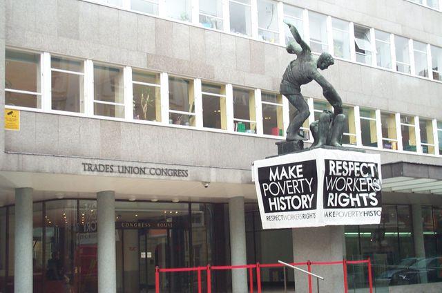Le siège du Trades Union Congress ( Congrès des syndicats) sur Great Russell Street à Londres