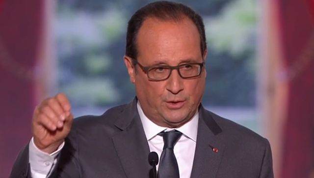 François Hollande ce lundi à l'Élysée