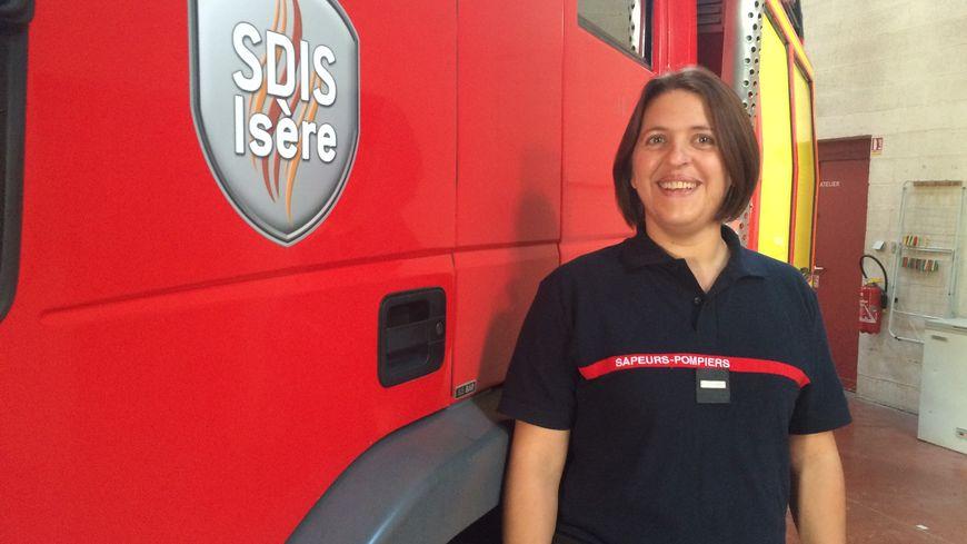 Delphine Sanvoisin est pompier volontaire à Jarrie.