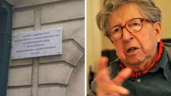 La plaque en l'honneur d'Henri Dutilleux enfin posée à Paris