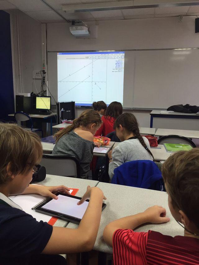 L'école numérique, en classe