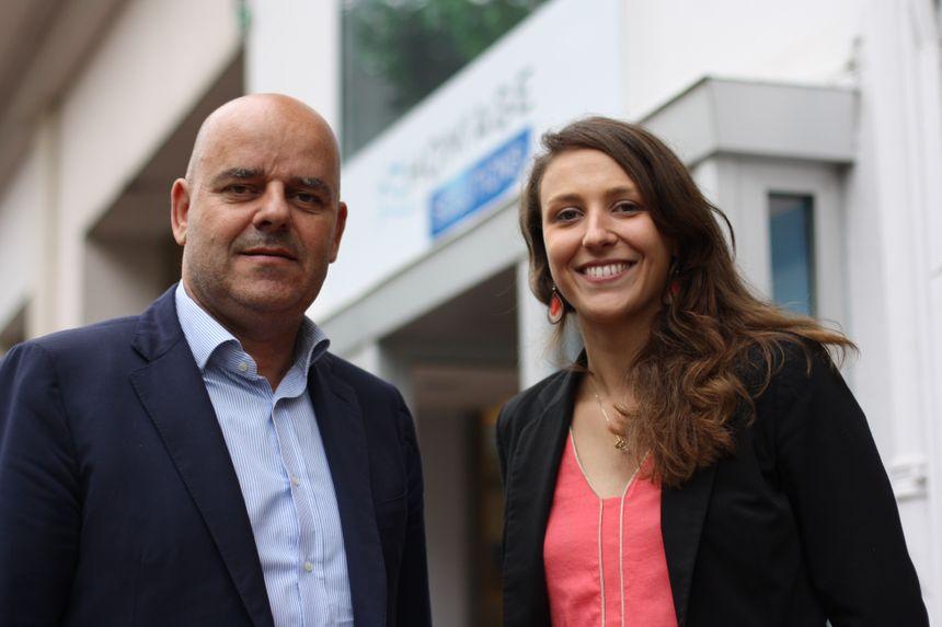 Le PDG Jacques Pleurmeau et la conseillère Aurore Decoularé-Delafontaine
