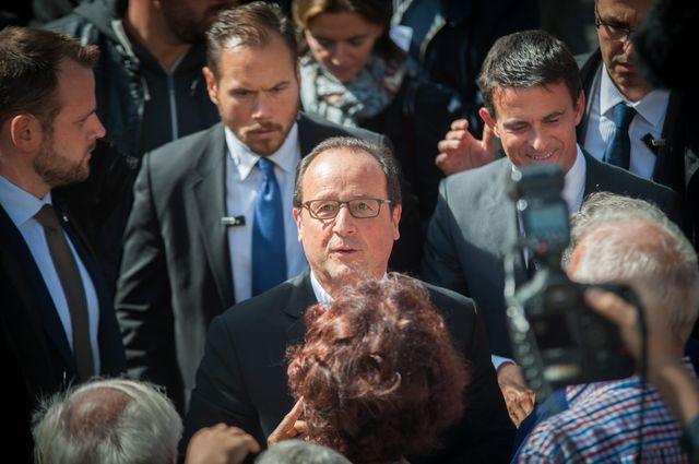 Arrivée de F.Hollande et M.Vals à Vesoul