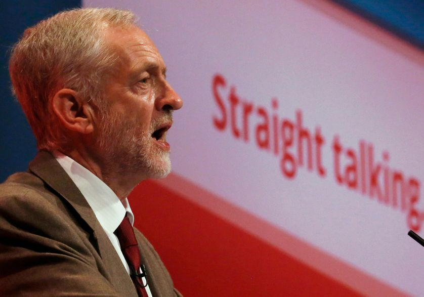 Britain's leader of the opposition Labour Party, Jeremy Corbyn, delivers his keynote speech at the party's annual conference in