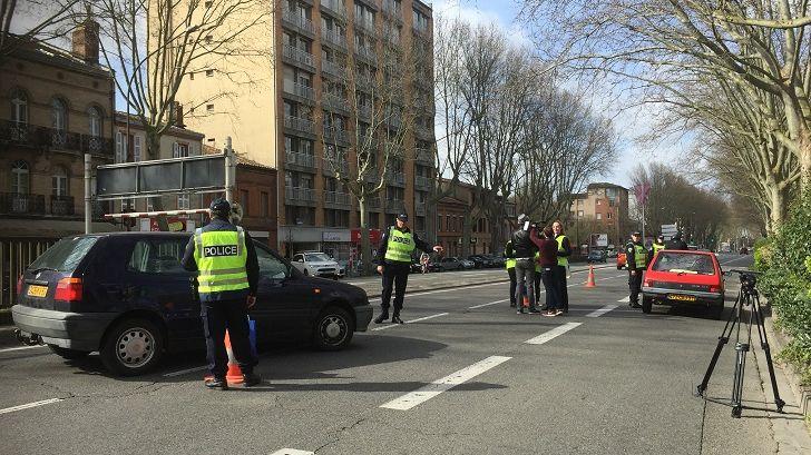 Un contrôle de police à Toulouse