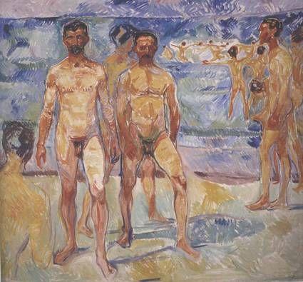 Edvard Munch Baigneurs