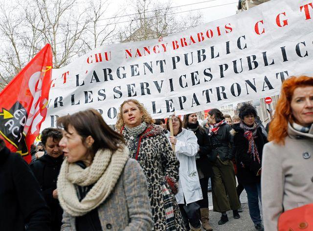 Les fonctionnaires dans la rue pour protester contre l'austérité