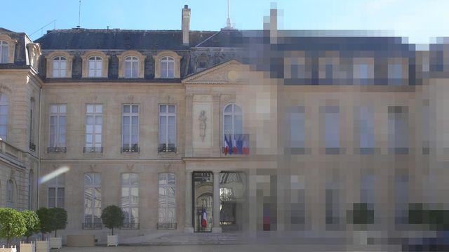 Palais de l'Élysée pixellisé