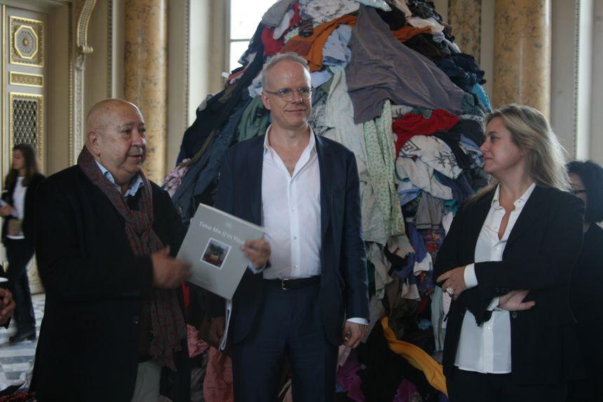 Christian Boltanski, Hans Ulrich Obrist et Chiara Parisi, commissaires de l'expo
