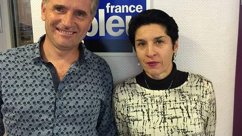 Damien Brochier président Cie vocale et Fabienne Locatelli