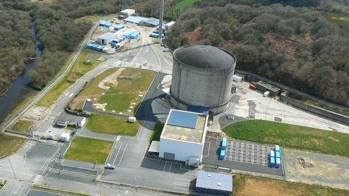La centrale nucléaire de Brennilis, où s'est déclenché un incendie