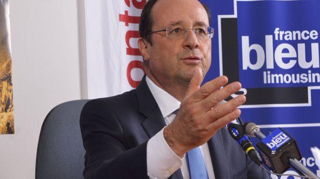 François Hollande, sur le plateau de France Bleu Limousin