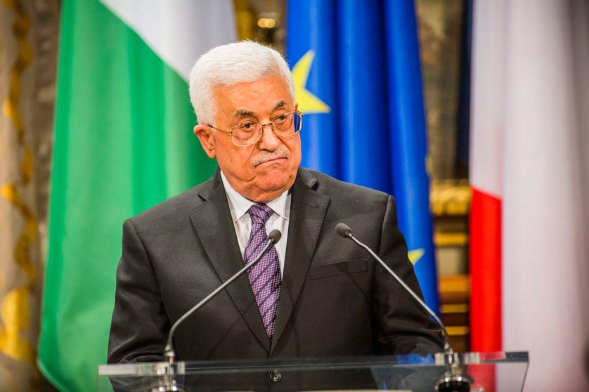 Le président palestinien Mahmoud Abbas, le 21 septembre 2015, à l'Hôtel de Ville de Paris