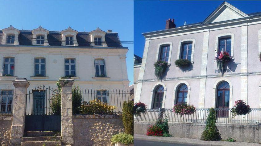 Les mairies de Semblençay et de Saint-Antoine-du-Rocher