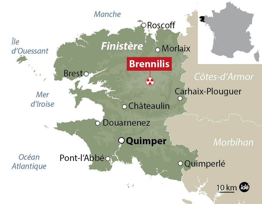 La centrale nucléaire est située dans le centre bretagne