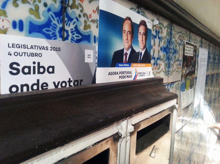 Affiche de campagne pour les législatives 2015 au Portugal