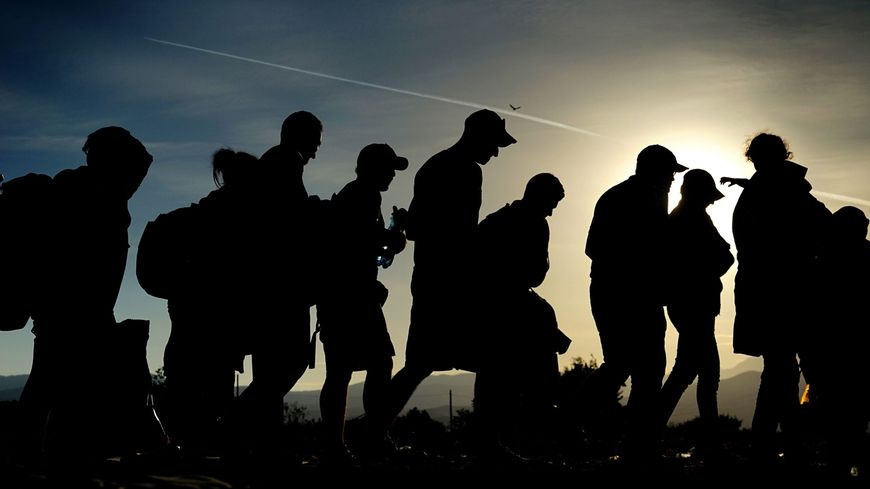 Migrants en macédoine (illustration)