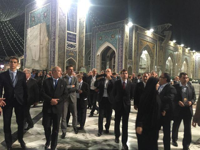 Visite patrons français en Iran