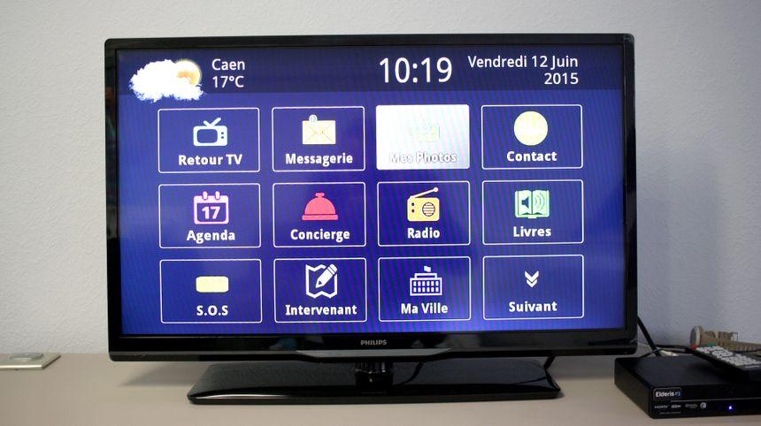 Exemple de téléviseur adapté offrant de multiples fonctions en un seul écran
