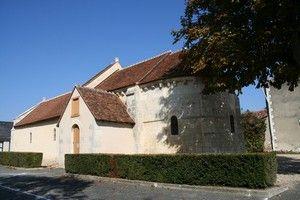 Eglise romane de Sainte Lizaigne (Indre)