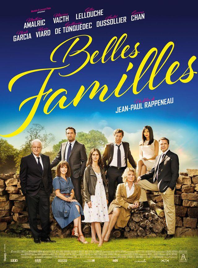 """Affiche film """"Belles familles"""" de J-Paul Rappeneau, avec Mathieu Amalric"""