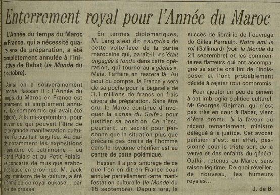 Le Monde du 6 octobre 1990