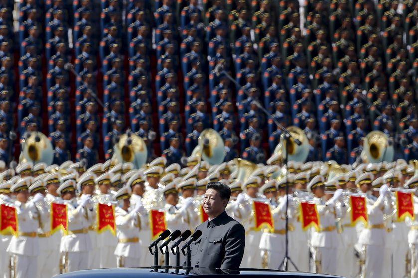 Place Tiananmen, 70e anniversaire de la fin de la 2nde guerre mondiale. Discours inaugural du président Xi Jinping (3.09.2015)