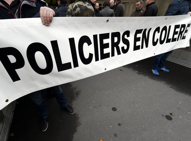 Manifestation de policiers à Nancy