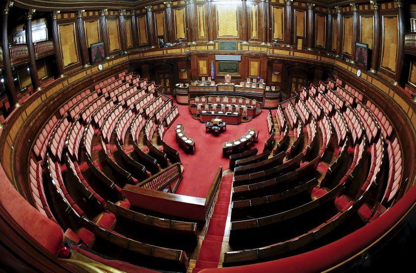 A general view of the Italian Senate in Rome.