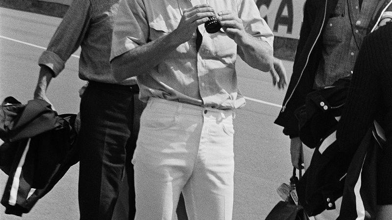 Steve Mc Queen en repérage au Mans en 1969
