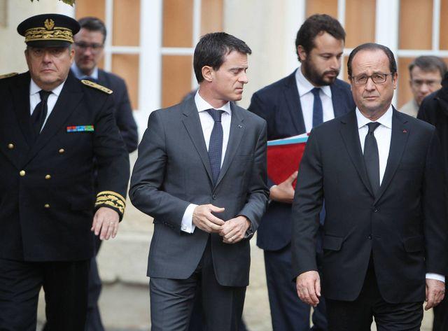 François Hollande était accompagné d'une partie du gouvernement, dont Christiane Taubira, Bernard Cazeneuve et Manuel Valls.