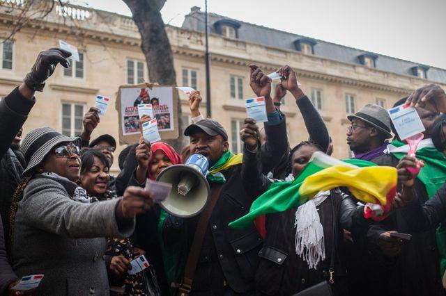 Rassemblement de la diaspora congolaise et protestation contre le pouvoir de Sassou