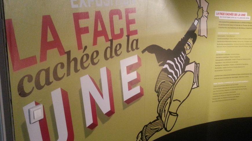 L'exposition La face cachée de la Une à la médiathèque de Bordeaux.