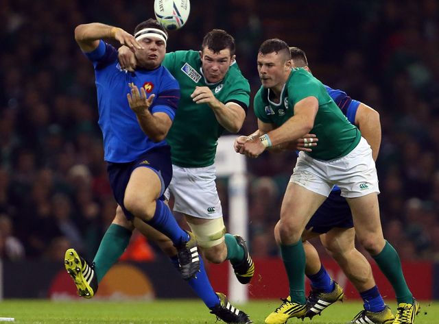 Guilhem Guirado au combat contre l'Irlande à la Coupe du monde de rugby 2015