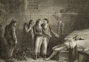 Condorcet sur son lit de mort