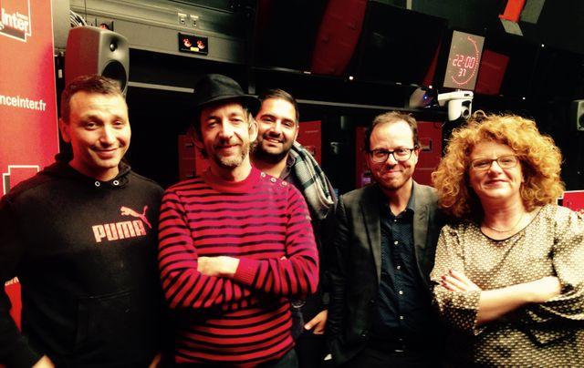 C215, Arthur H, Karim Bourcherka, Arnaud Olivieux et Agnès Tricoire