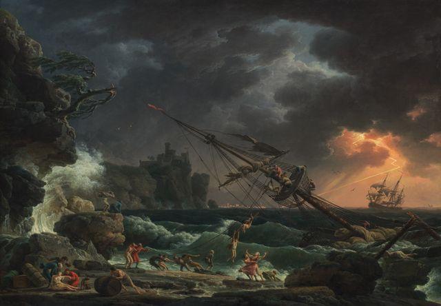 Le naufrage par Claude Joseph Vernet - 1772