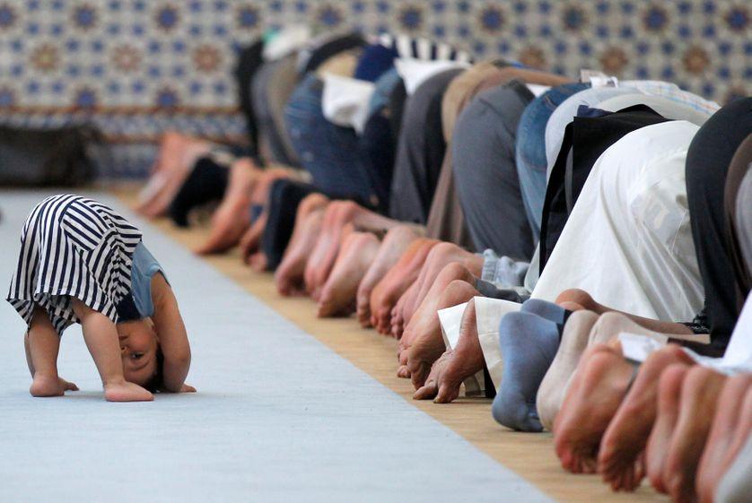 Dans la grande mosquée de Strasbourg
