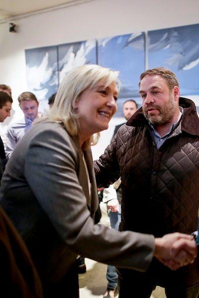 Marine Le Pen et Axel Loustau, 23 juin 2015