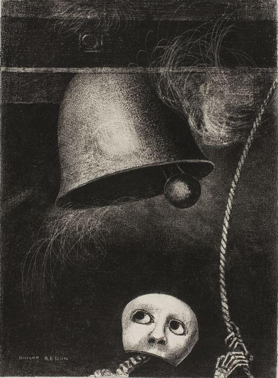 A Edgar Poe, planche 3: Un masque sonne le glas funèbre; 1882