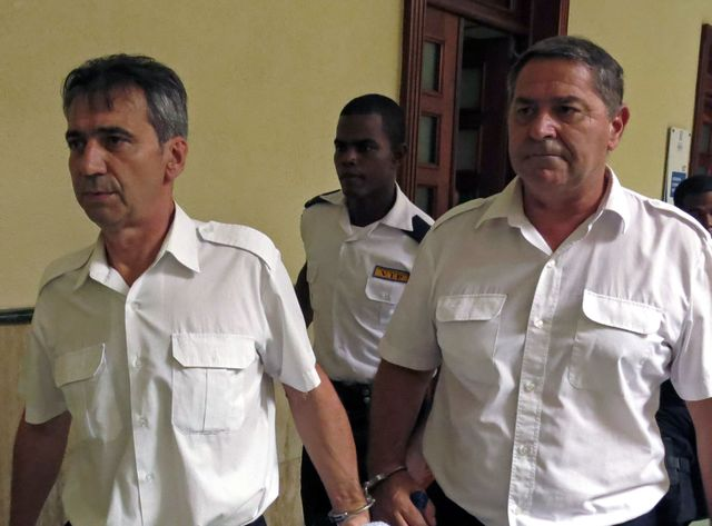 Pascal Fauret et Bruno Odos ors de leur procès en République Dominicaine