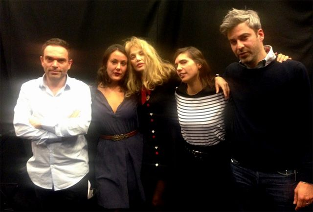 Ping Pong : Yann Moix, Zoé Sfez, Arielle Dombasle, Mathilde Serrell et Martin Quenehen