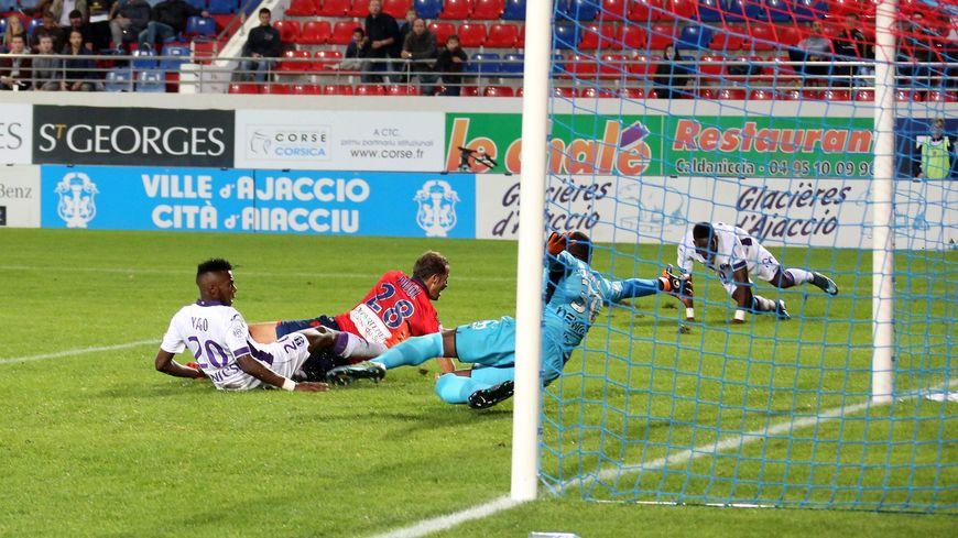 Lors de la 9e journée les Toulousains ont fait match nul 2-2 contre Ajaccio