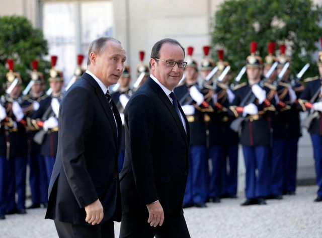 Discussions Hollande/Poutine sur la Syrie