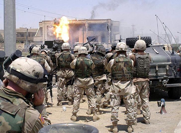 L'armée américaine à Mosoul, 2003 (Irak)