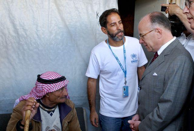 Bernard Cazeneuve s'est rendu au camp de réfugiés syriens à Zahlé, dans la vallée de la Bekaa, au Liban